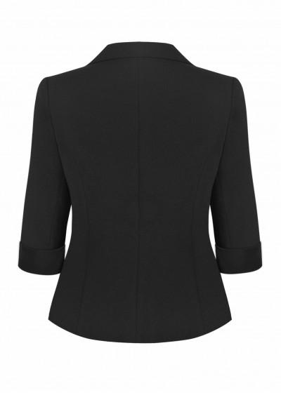 Vest hotex vạt tròn đen B602