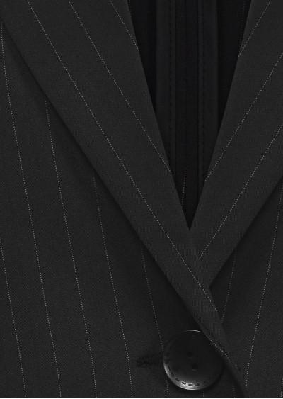 Vest nano vạt tròn đen kẻ B420