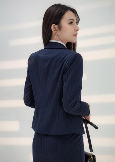 Vest dài nano xanh kẻ B425
