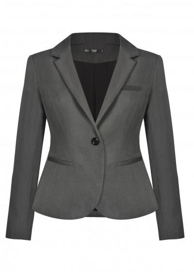 Vest nano dài kẻ xám B450