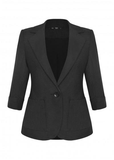 Vest nano vạt tròn đen kẻ ghi B411