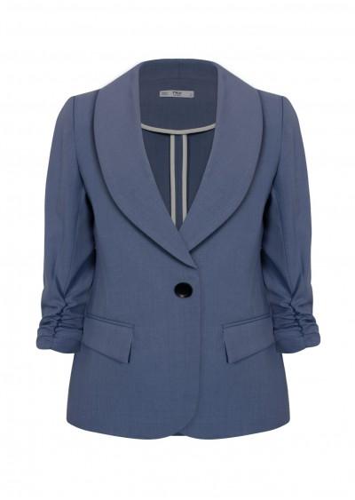 Vest ve tròn xanh xám B646