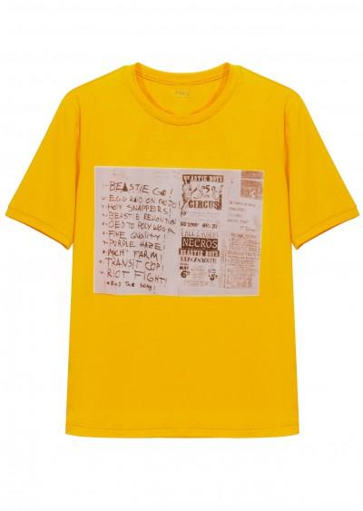 Phông cotton vàng P673
