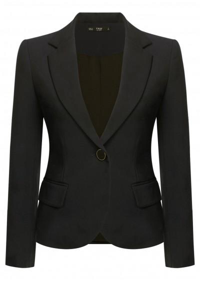 Vest dài đen B302-1