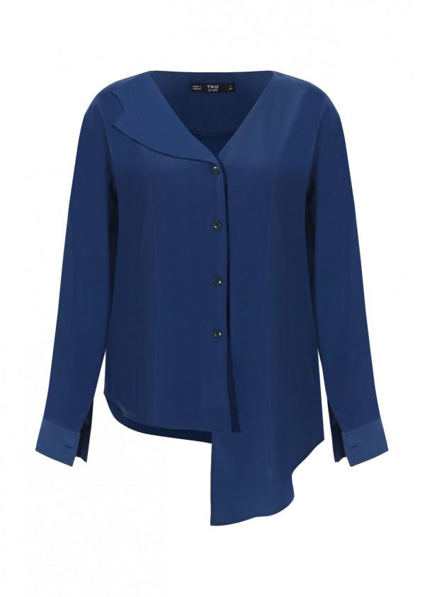 Áo nẹp lệch xanh TT C240-1