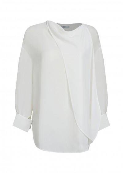 Áo chiffon khăn cổ C285-1