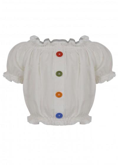 Áo cotton BG trễ vai K341