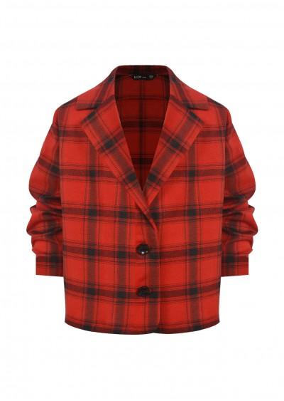 Vest TE cotton kẻ ô đỏ K354-2