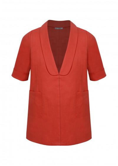 Vest TE linen cổ liền K496