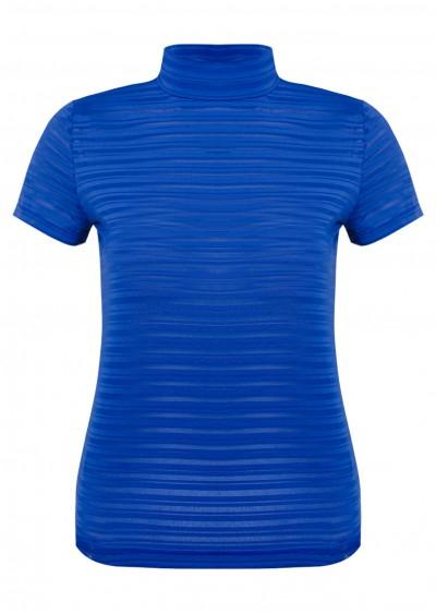 Áo thun ngắn kẻ xanh L209