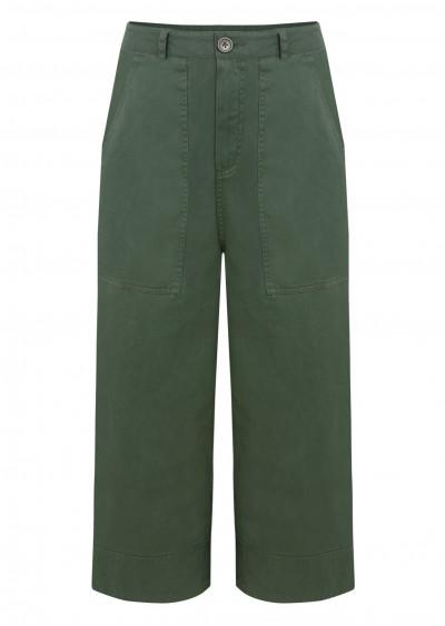 Quần khaki rộng xanh rêu Q567-1