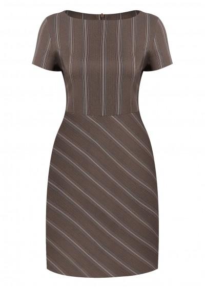 Váy kẻ nâu V397-G