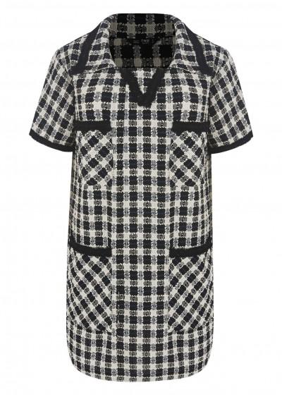 Váy dạ kẻ đen trắng V435-1