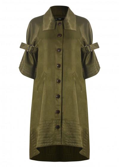 Váy măng tô xanh rêu V438-1