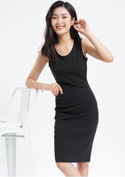 Váy 3L giãn đen V559