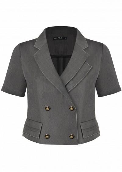 Vest nano ve lệch ngắn B381