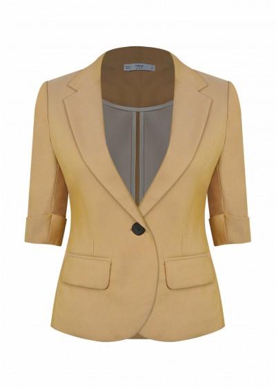 Vest hotex vạt tròn vàng B600