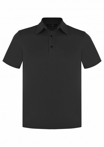 Polo nam cotton đen E234