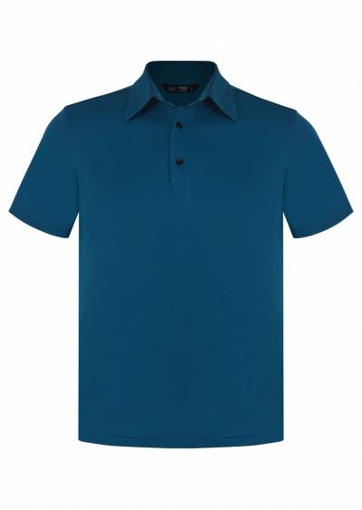 Polo nam cotton xanh lục E236