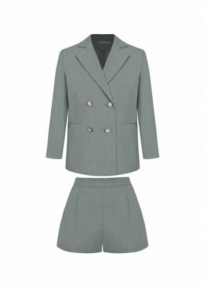 Bộ vest rayon BG xanh ngọc K516