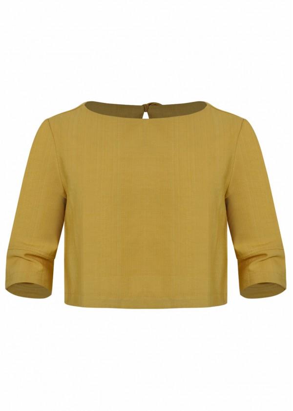 Áo rayon BG vàng K612-1