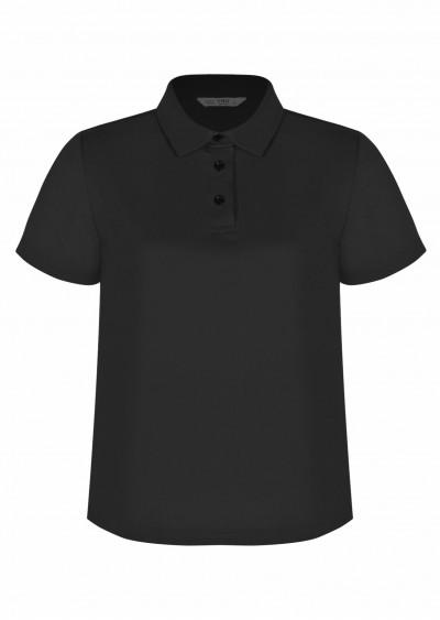 Polo cotton đen P466