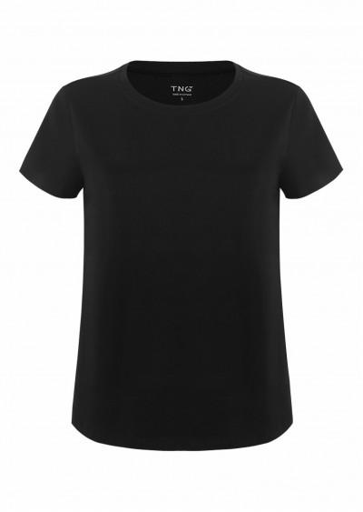 Phông cotton basic đen P631