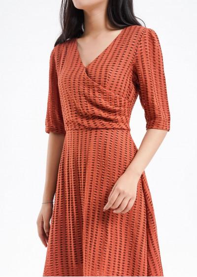 Váy rayon tay bồng ly eo V493-G