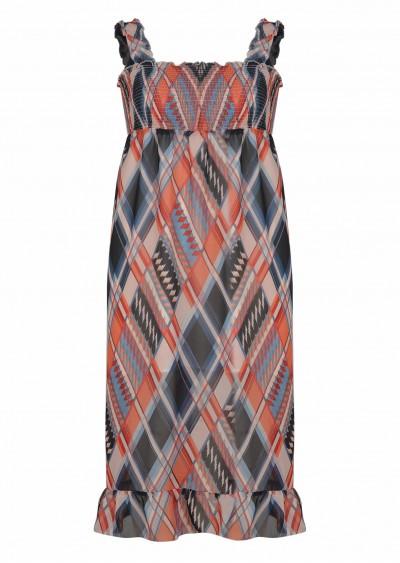 Váy 2D chiffon hồng HT V518-1