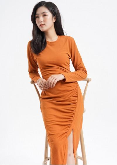 Váy PE Plain nhún sườn V521
