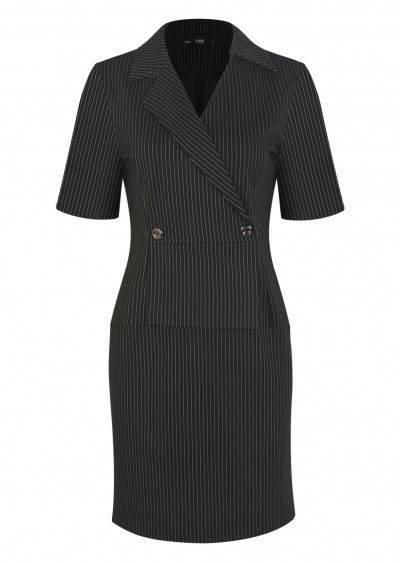 Váy rayon cổ vest lệch V538-G