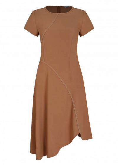 Váy Hotex gấu chéo nâu V539-1