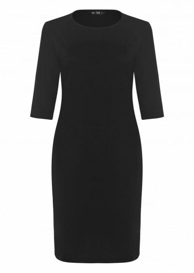 Váy thun tay lửng đen V551