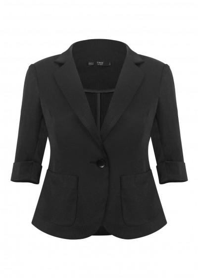 Vest nano túi tròn kẻ đen B651