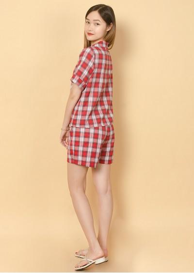Bộ Pijama kẻ đỏ U323