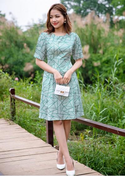 Váy xòe xanh HT V724