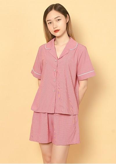 Bộ Pijama kẻ hồng U321