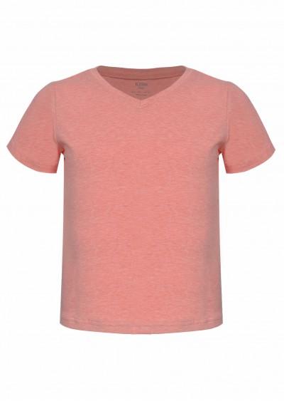 Phông cotton BG cổ tim hồng K964