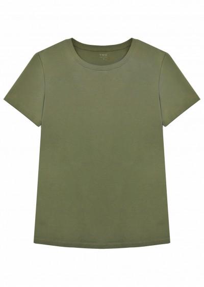 Phông nam cotton xanh rêu E255