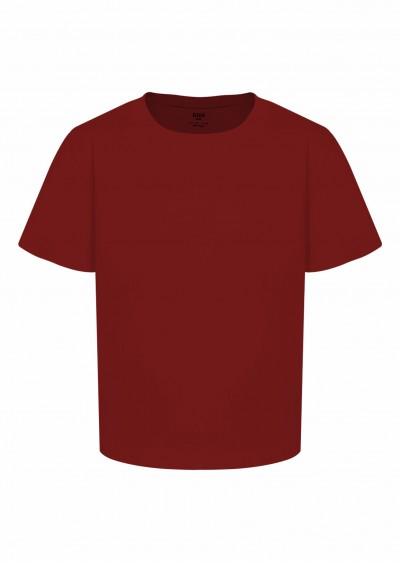 Phông cotton BT đỏ đô K0004-1