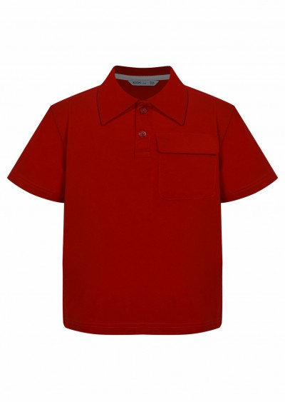Polo cotton BT đỏ K760-1