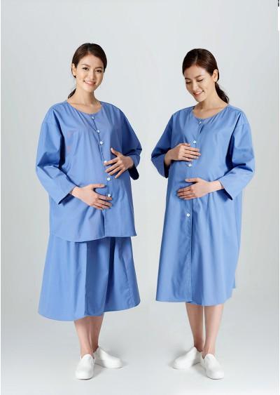Trang phục của sản phụ (Áo váy liền) Xanh dương Y0163