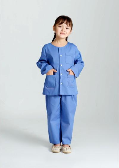 Trang phục quần áo bệnh nhi cổ tròn Y0177