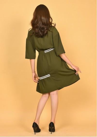 Váy PE Plain nhún eo V471-G