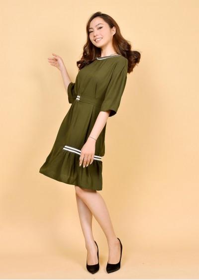Váy PE Plain nhún eo V471-1