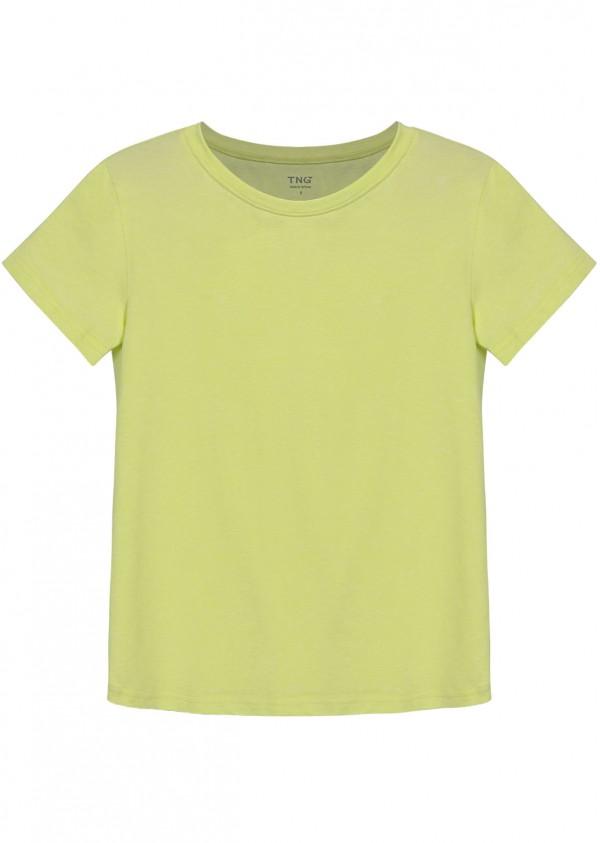 Phông cotton vàng chanh P501