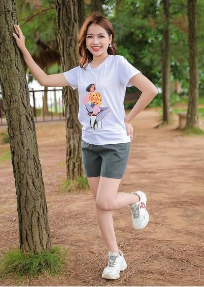 Phông in hình cô gái P677