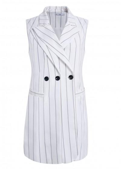 Vest gilê kẻ trắng B257-2
