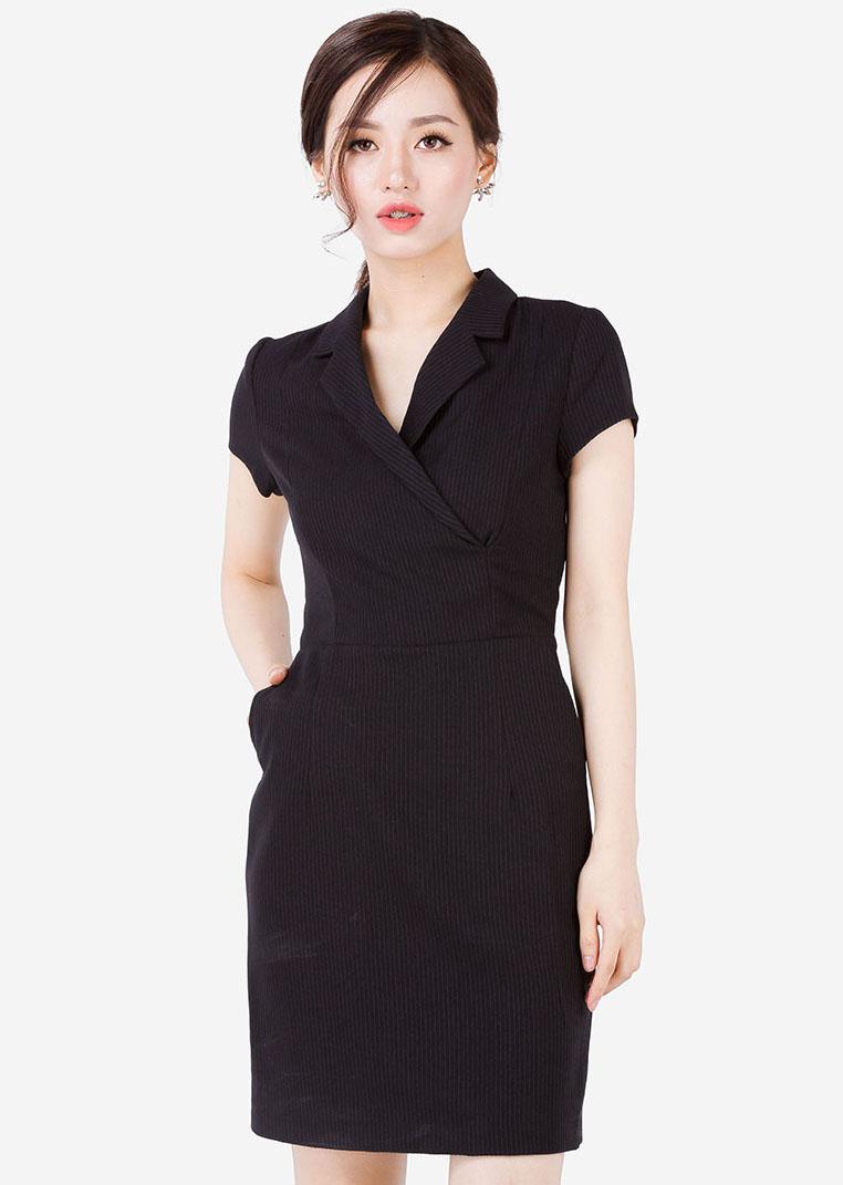 Váy cổ vest TNG1123