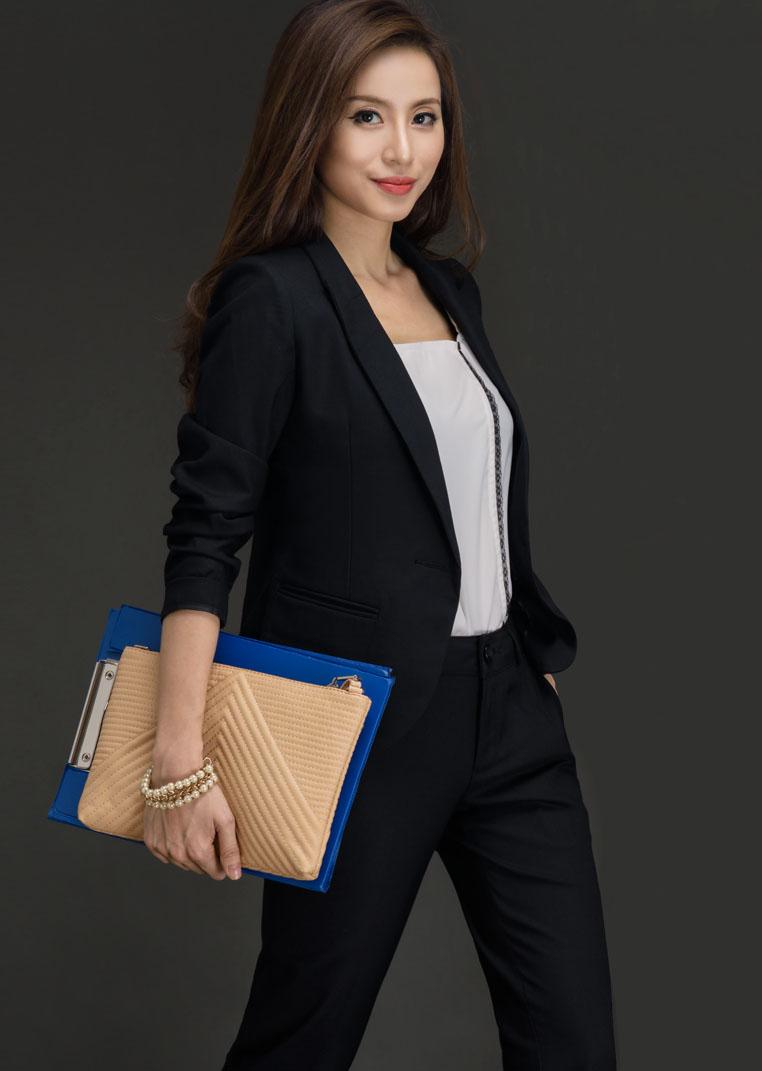 Bộ áo vest tay dài TNG761 - Quần âu TNG1318